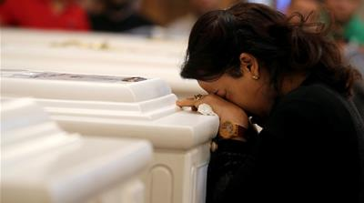 'Sadness and pain' as Egypt's Copts bury bus attack victims