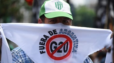 Thousands protest 'G20 circus' in Argentina