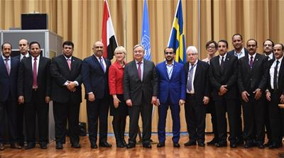 The talks between Yemen's warring sides in Sweden were the first since 2016 [File: Jonathan Nackstrand/ AFP]