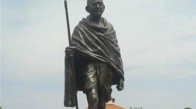 Statue of 'racist' Gandhi removed from Ghana university campus