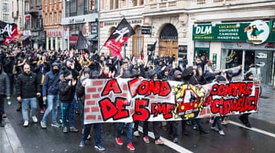 Protesters in France call for closure of Generation Identity bar