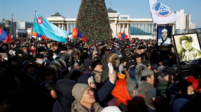 Mongolia: Thousands protest corruption in Ulaanbaatar