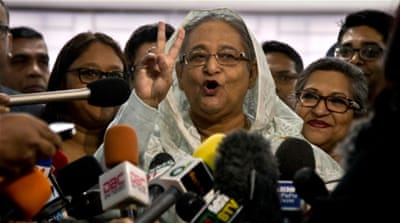 Hasina wins Bangladesh elections as opposition rejects polls