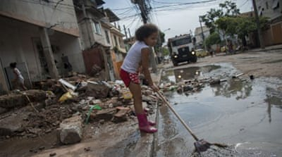 Clean-up begins after major flooding hits Rio