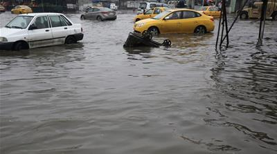 Flash-flooding in Baghdad, basking in the sun in Riyadh