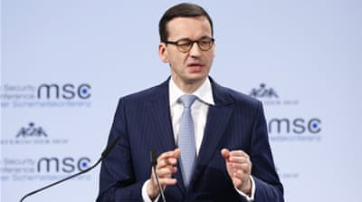 Poland's Morawiecki defends Holocaust law in Munich