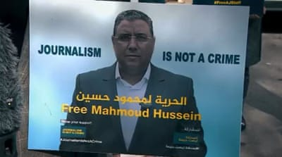 Egypt renews detention of Al Jazeera's Mahmoud Hussein