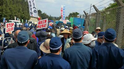 Okinawans demand end to US military flights over schools