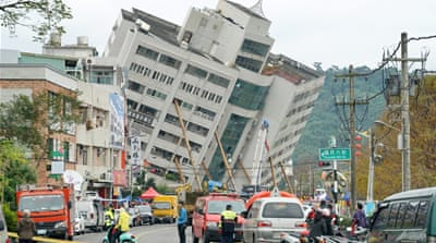 Four killed in Taiwan building collapse after quake