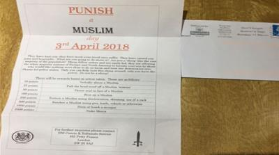 Counterterror police investigate 'punish a Muslim' day letters
