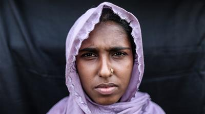 100 faces of Rohingya refugees
