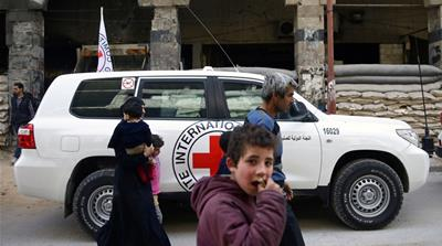Limited food allowed to enter Syria's besieged Eastern Ghouta