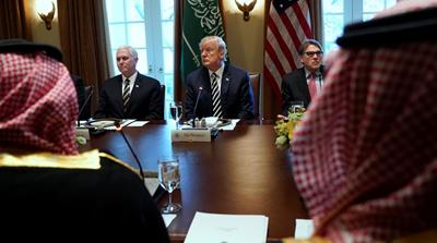 Trump asks Saudi crown prince to share wealth through investments