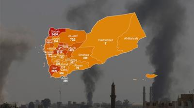 Death from above: Every Saudi coalition air raid on Yemen