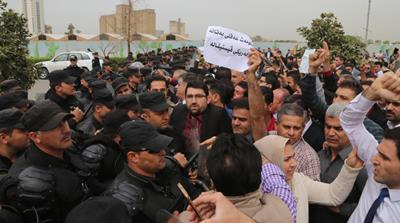 Iraqi Kurdish civil servants protest against salary delays