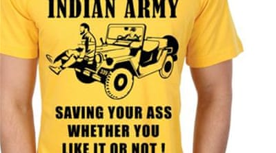 Outrage as BJP leader sells Kashmir 'human shield' T-shirt