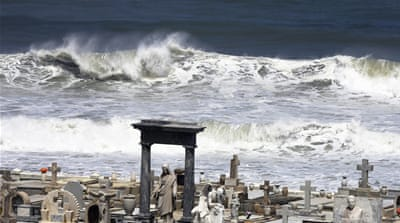 Caribbean islands battered by stormy seas