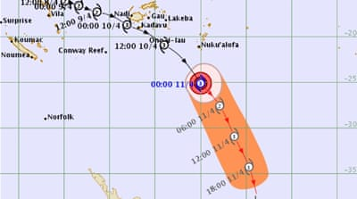 Tropical Cyclone Keni makes a direct hit on Fiji
