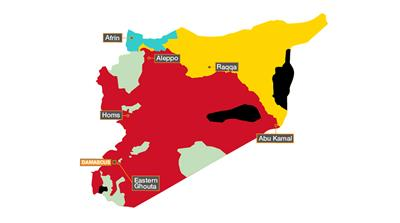 Syrian civil war map: Who's in control where