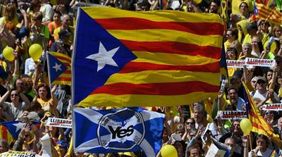 Thousands march in Barcelona for jailed Catalan leaders