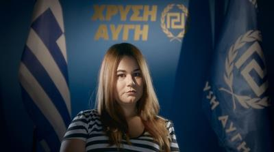 Ourania is the daughter of Nikolaos Michaloliakos, the founder and leader of the far-right Golden Dawn party. [Al Jazeera]
