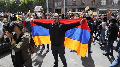 Why are Armenians protesting against the new prime minister?