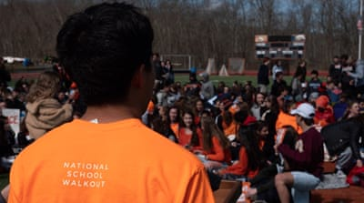 US students stage class walkout to demand tougher gun laws