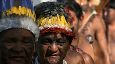 Indigenous Brazilians rally to demand land rights protection