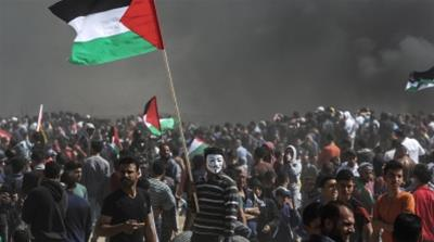 Why are Palestinians protesting near the Israeli-Gaza border?