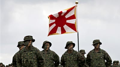 Japan's military rising with first marines since WWII