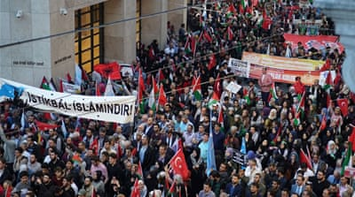 Thousands rally in Istanbul in solidarity with Palestinians