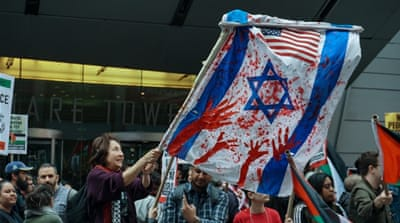 Far away from Gaza, a showdown in NYC's Times Square