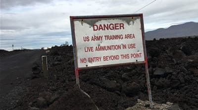 Native Hawaiians resist 'bombing' of their sacred lands