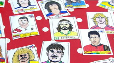 'Panini Cheapskates': Drawing the World Cup stickers at home