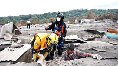 Fuego eruption: A week on, rescue workers recover buried bodies