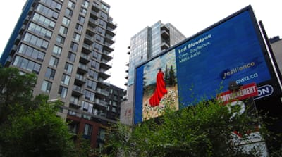 Billboards celebrate indigenous women's resilience in Canada