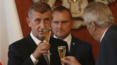 Czech minority government led by populist Babis sworn in