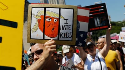 Families Belong Together: Thousands protest Trump policies