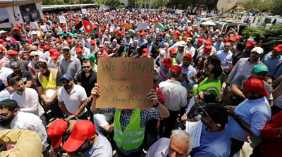 Jordan trade unions strike to press for their demands