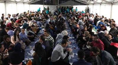 Open Iftar tent attracts hundreds in the UK