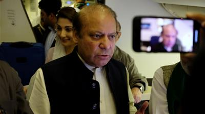 Jailed former Pakistani PM Sharif released for wife's funeral