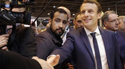 Macron aide probed after caught on video beating protester