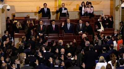 Ex-FARC rebels sworn into Colombia's Congress