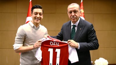 German football federation denies Mesut Ozil's 'racism' claims