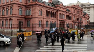 Cold weather grips southern South America