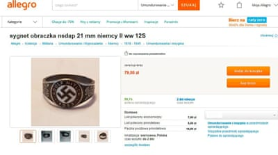 Nazi-inspired jewellery, trinkets wiped from auction site