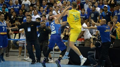 Australia, Philippines basketball match marred by on-court brawl