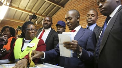 Opposition leader says he's winning as Zimbabwe awaits results