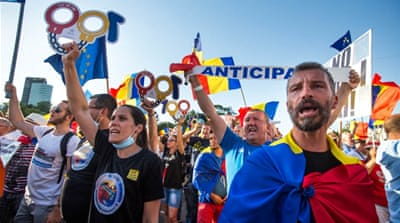 Romania's swelling anti-government protests