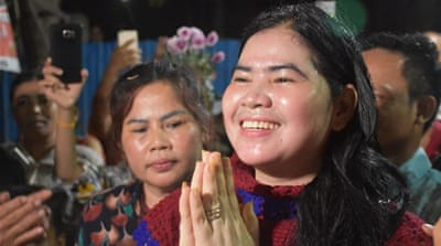 Cambodia rights activist freed from jail after pardon